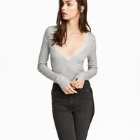 H&M Ribbed Jersey Top $24.99