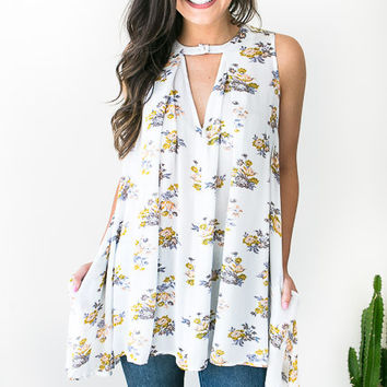 Back to Floral Tunic with Pockets