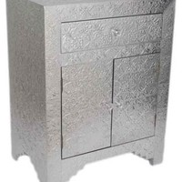 One Kings Lane - Souk Treasures - Hammered Metal Cabinet