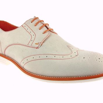 Mens Tony's Wing Tip Two Tone Lace Up Oxfords Shoes C-1304XL Orange