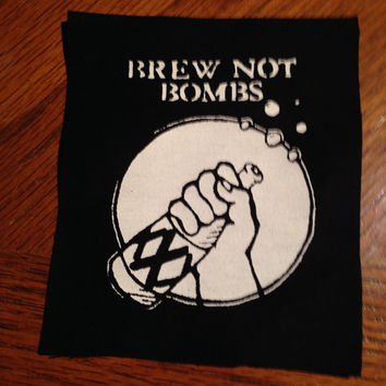 Brew Not Bombs Punk Patch