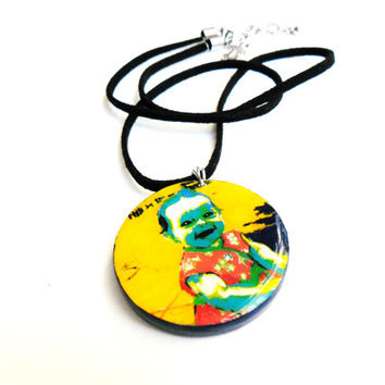 Memorial Jewelry - Memory Necklace - Remembrance Necklace Made to Order - Custom Photo to Painting - Memory Pendant - Keepsake Necklace