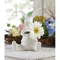 Adorable Porcelain Bunny Vase Decor