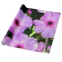 Mauve Flowers Wrapping Paper