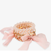 Chiffon Wrapped Bangle Set