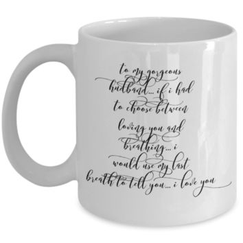 Cute Valentines Day Gifts for Women Valentines Day Gift - Love Affirmation Husband Mug - Valentine For Him - I Appreciate You Gifts - Anniversary Best Birthday Gift Wife Husband - Novelty Mug Cup For Valentine - Wedding Wife Women Men