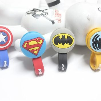 Batman Dark Knight gift Christmas 10pcs/lot Batman,Superman Cartoon Headphone Earphone Cable Wire Organizer Cord Holder USB Charger Cable Winder For samsung AT_71_6