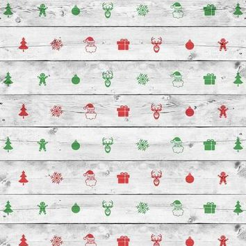 White Wash Christmas Vinyl Backdrop - 5x6 - LCCR2591 - LAST CALL