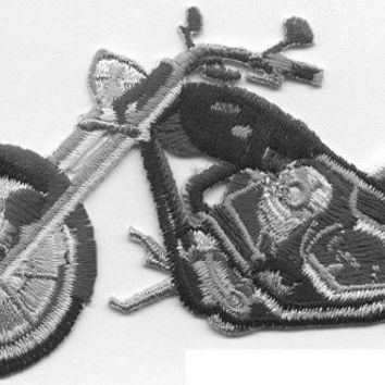 Motorcycle Chopper harley black and silver motorcycle Iron or Sew On patch by Cedar Creek patch Shop on Etsy