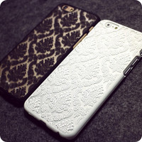 Retro Lace Floral iPhone 4 4S 5 5S 6 6s 6 6s Plus Case Cover gift