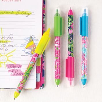 Lilly Pulitzer Pen & Highlighter Set - See Jane Work