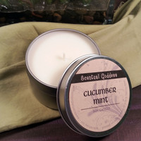 Cucumber Mint Soy Candle - Crisp, Uplifting, Clean Spa Scent