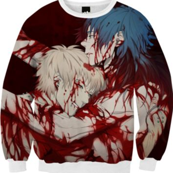 Noiz & Aoba - Noiz Bad Ending - DRAMAtical Murder created by Lavender Ghoul   Print All Over Me