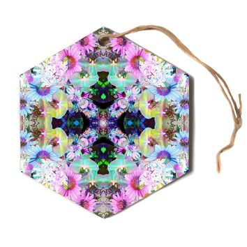 "Danii Pollehn ""Butterflywing""  Hexagon Holiday Ornament"