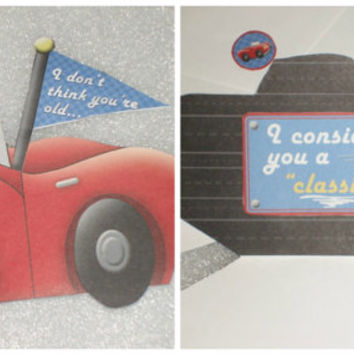 Red Convertible Car Birthday Card