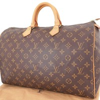 Tagre™ Authentic LOUIS VUITTON Speedy 40 Monogram Boston Hand Bag Purse #23697