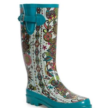 Rainboots Printed Rain Boots Duck From Sakroots My Shoes Extraordinary Patterned Rain Boots