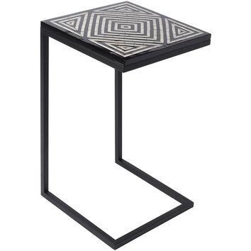 Metal and mother of pearl tile cigar table