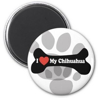 I Love My Chihuahua - Dog Bone