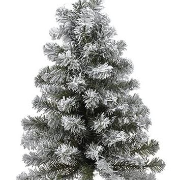 "Artificial Christmas Snowy Balsam Pine Tree - 24"" Tall"