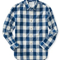 Long Sleeve Buffalo Check Woven Shirt