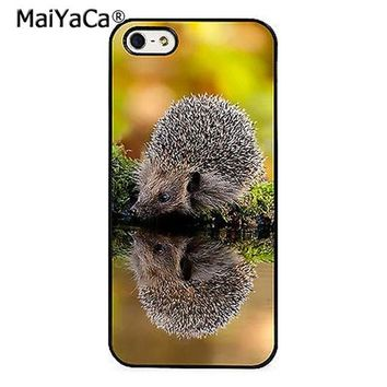 MaiYaCa Hedgehog Cute Nature Wildlife Phone Case Cover for iPhone 5 5s 6 6s 7 8 X XR XS max samsung galaxy S6 S7 edge S8 S9 Plus