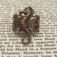 Seahorse Adjustable Brass Ring