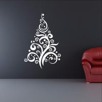 Christmas Tree Style C Removable Vinyl Wall Decal  22360