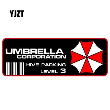 YJZT 15x5CM Fashion UMBRELLA Resident Evil Hive Parking Car Sticker Retro-reflective Decals C1-8010