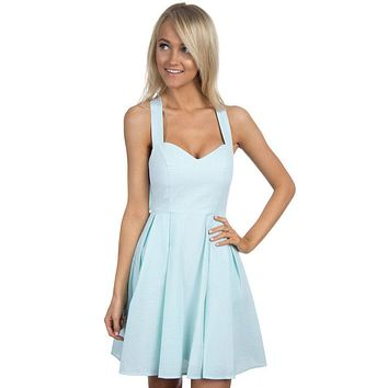 The Livingston Dress in Mint Seersucker by Lauren James - FINAL SALE