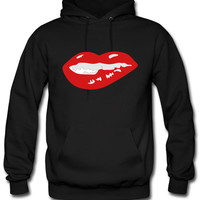 Sexy Mouth Bite Lip hoodie