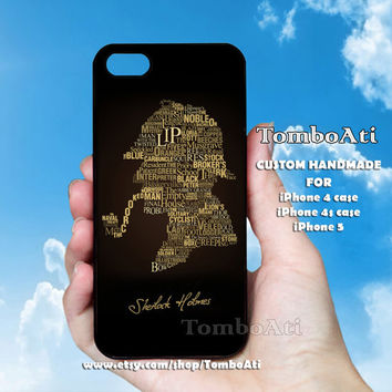 Sherlock Holmes Quotes   - Print on Hard Cover For iPhone 4/4S and iPhone 5 Case