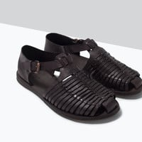 LEATHER SANDAL New