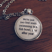 wish you were here pink floyd lyric necklace