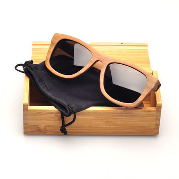 Fashion Red Horse Wood Polarized sunglasses