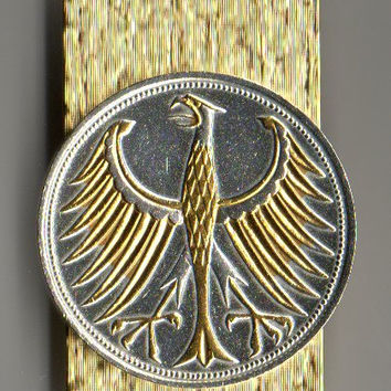 Gorgeous 2-Toned  Gold & Silver German Eagle  Coin - (Hinged) Money clips