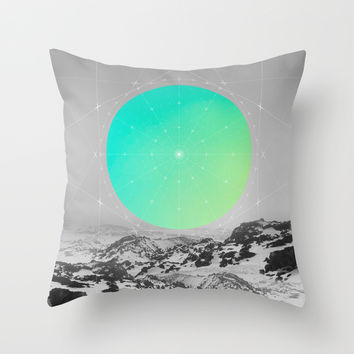 Middle Of Nowhere II Throw Pillow by Soaring Anchor Designs