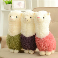 "1pcs 8"" 20cm Hot cartoon Lovely Alpaca Sheep Plush Stuffed Toy Room Decoration Fashion creative fill plush toys Child gifts"