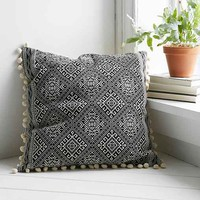 Magical Thinking Black + White Square Pillow- Black & White 24in.square
