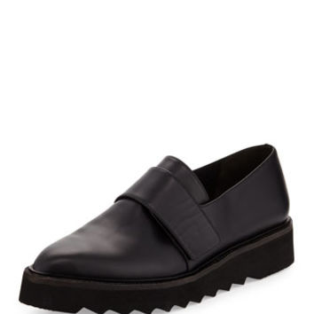 Vince Ames Leather Creeper Loafer, Black