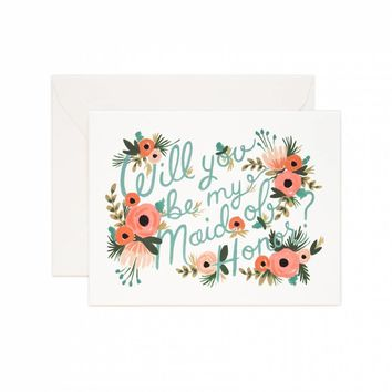 RIFLE PAPER CO. MAID OF HONOR CARD