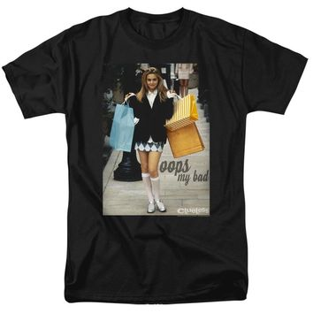 Clueless T-Shirt Cher Oops My Bad Black Tee