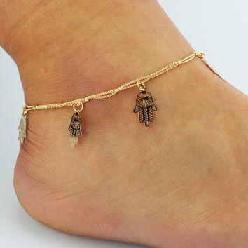 New Arrival Sexy Shiny Gift Stylish Ladies Jewelry Cute Hot Sale Tassels Double-layered Accessory Anklet [6464860481]
