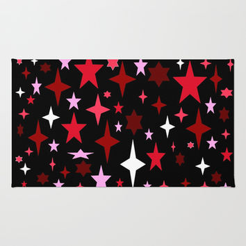 Magenta Starry Nights Area & Throw Rug by 2sweet4words Designs
