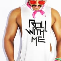 Roll With Me Low Arm Shredder Tank- White
