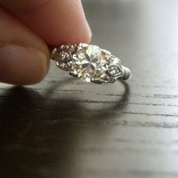 SALE Vintage Edwardian Platinum Diamond by RiordanStudio on Etsy