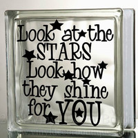 Look At The Starts Glass Block Decal Tile Mirrors DIY Decal for Glass Blocks Look At The Stars See How They Shine For You