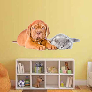 dog Wall Decals cat wall decor Animals wall Decals dogs Full Color Decals dog Art Sticker veterinary clinic decor Home Decor cik2231