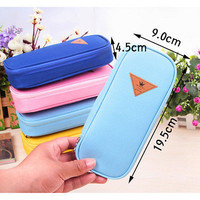Stationery Canvas Pen Pencil Case Cosmetic Bag Travel Makeup Bag High capacity S