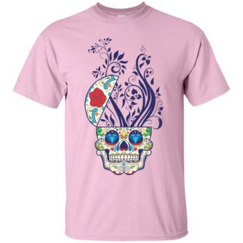 Sugar Skull Flowers Novelty T Shirt